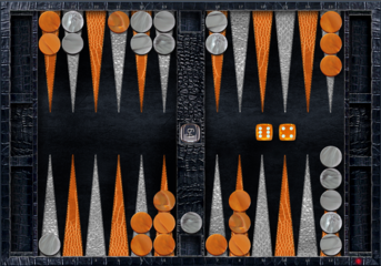 Leather-BlackGator-SilverTangerine theme